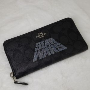 Coach Star Wars Signature Accordion Zip Wallet